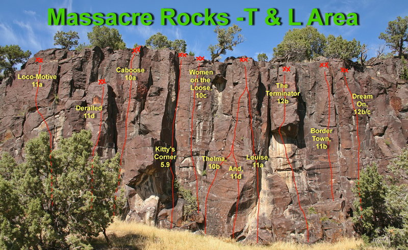 Rock Climbing Photo: T & L Area (Thelma and Louise)