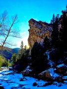 Rock Climbing Photo: Late on a beautiful winter day.