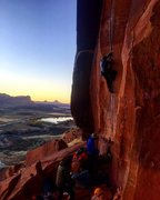 Rock Climbing Photo: Sunset Laps on an all time classic line