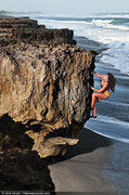 Rock Climbing Photo: Andi Fidanzi climbing at Blowing Rocks Preserve in...