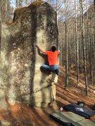 Rock Climbing Photo: Masumi on the edge