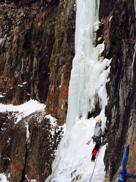 Rock Climbing Photo: Danny Kaiser traversing in to the start of Respons...