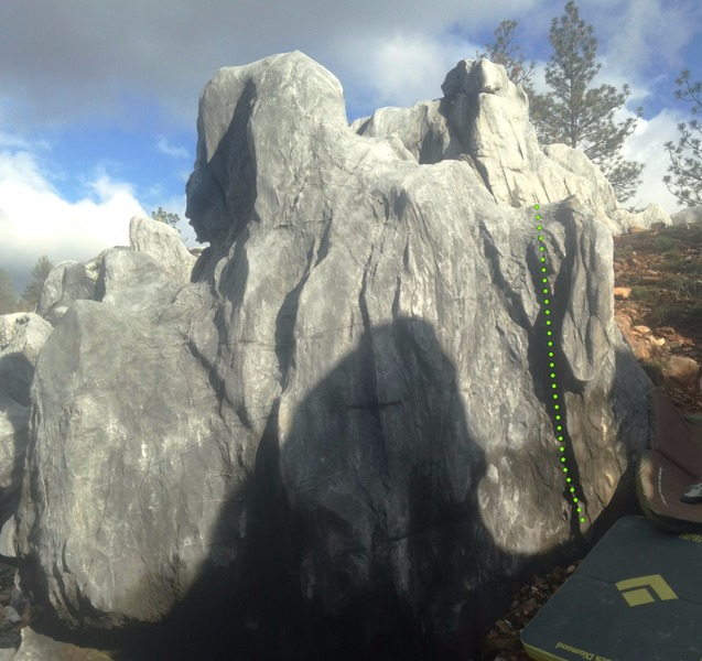 Rock Climbing Photo: Welcome to the Labyrinth (Right) V0-