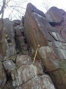 Rock Climbing Photo: Trad route/potential highball boulder.
