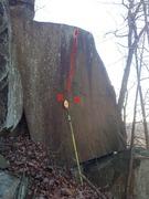 Rock Climbing Photo: Short face on great rock.