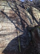 Rock Climbing Photo: Highball-ish thin crack. Undone line.