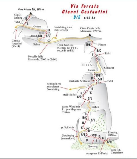 Rock Climbing Photo: Diagram of the route