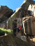 Rock Climbing Photo: Danny G pulling into the tricky stem!