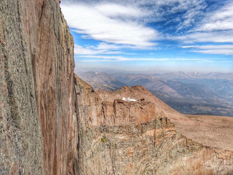 Rock Climbing Photo: Mt. Fairchild from the Diamond.