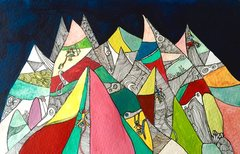 Rock Climbing Photo: An example of Rhiannon Williams artwork.