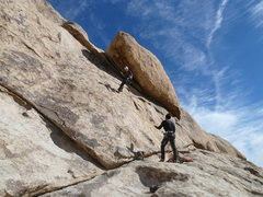 Rock Climbing Photo: Lowering off the draws after leading, great warm u...