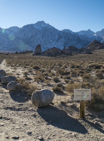Rock Climbing Photo: The current Alabama Hills restoration project at t...