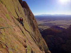 Rock Climbing Photo: dike traverse on Muttonhead