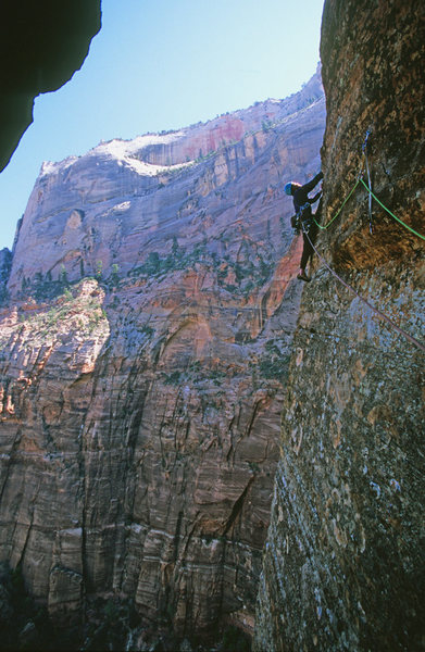 Rock Climbing Photo: A cold day in Zion