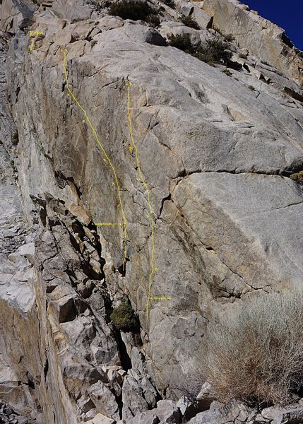 Rock Climbing Photo: Shorty Wall showing Eastside Dream (.11+) and Livi...