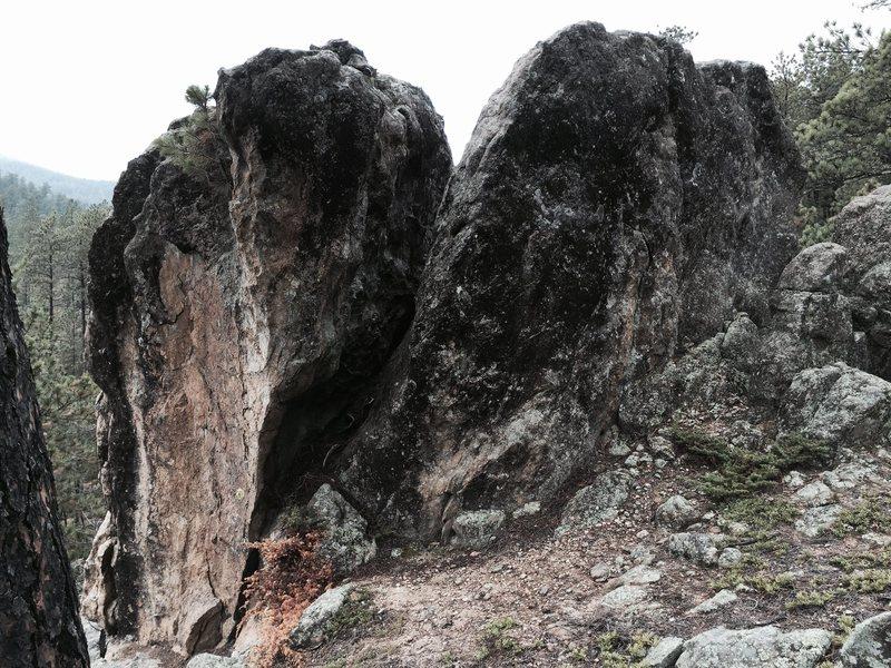 Rock Climbing Photo: Backside of Thailand Boulder east faces