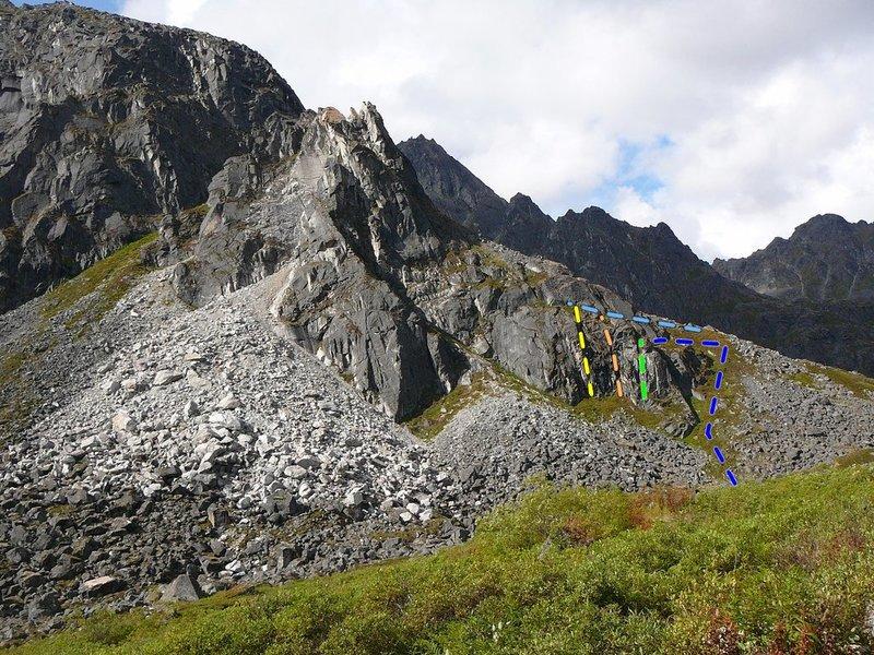 Climbing Hatchers pass.  Easy top rope