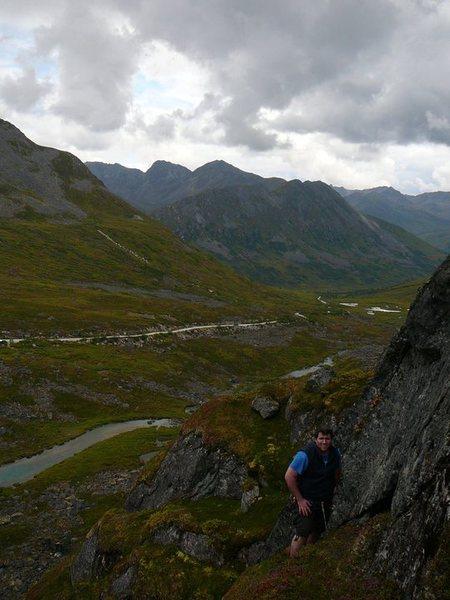 Rock Climbing Photo: Hatchers pass granite climb view from the top