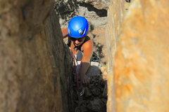 Rock Climbing Photo: Sienna making the last pull