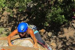 Rock Climbing Photo: Working the traverse
