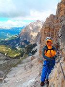 Rock Climbing Photo: The Cresta di Fanes in the foreground, Conturines ...