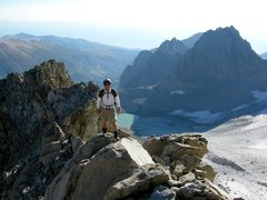 Rock Climbing Photo: Near the top of North Couloir. Temple and Gayley s...