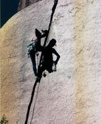 Rock Climbing Photo: Getting it done many years ago on Hard Day's Work.