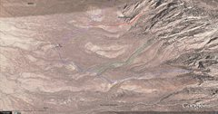 Rock Climbing Photo: The blue line marks the normal Gertch trail, and t...
