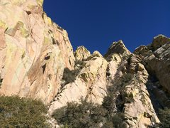 Rock Climbing Photo: Looking east into the gully between the Long and K...