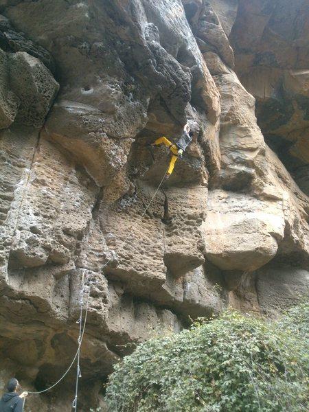 Rock Climbing Photo: La silla start