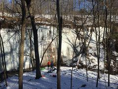 Rock Climbing Photo: Stephens Falls Right Wall 1/16/16