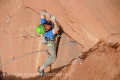 Rock Climbing Photo: Jeff Snyder getting into the business on the 1st p...