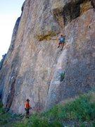 Rock Climbing Photo: hot day at Shelf
