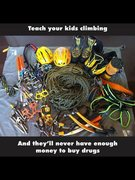 Rock Climbing Photo: Teach Kids Climbing