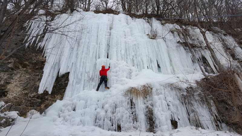 Rock Climbing Photo: wyalusing ice 1/16/16.