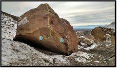 Rock Climbing Photo: Echopox problem beta, number 2.