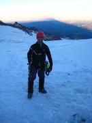 Rock Climbing Photo: The shadow of Mount Rainier on the horizon
