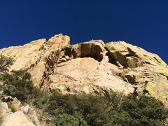 Rock Climbing Photo: Gertch's Arch, as viewed from the approach trail. ...