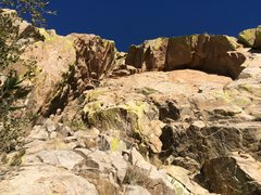 Rock Climbing Photo: Looking up at the roof of Gertch's Arch from the b...