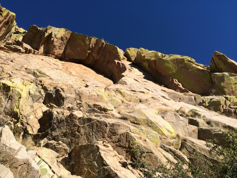 Another view of the Gertch's Arch roof from the base of the rock.