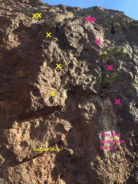 Rock Climbing Photo: New anchor location shown