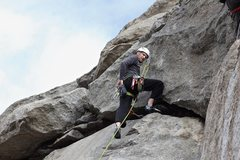 Rock Climbing Photo: Pausing before pulling the last crux section.