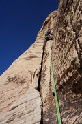 Rock Climbing Photo: John leading the first pitch.