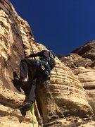 Rock Climbing Photo: Brendan leads the second pitch