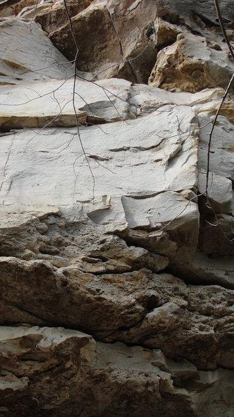 Rock Climbing Photo: Pick Pocket- 12b.  Follows mini arete on right sid...