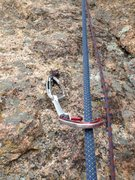 Rock Climbing Photo: The bolt.
