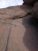 Rock Climbing Photo: Lowest part of 10d.