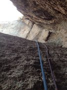 Rock Climbing Photo: Tube crux from below.