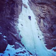 Rock Climbing Photo: Logan Berndt leading Hully Gully.