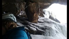 Rock Climbing Photo: Belay for first (potentially second) pitch. There ...